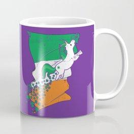Unicorn Distressed Irish Flag St Patricks Purple Coffee Mug