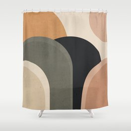 abstract minimal sunrise Shower Curtain