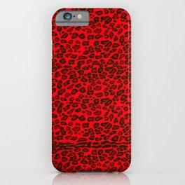 Leopard seamless pattern design. Red leopard. iPhone Case