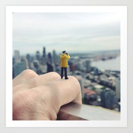 Perspectives from up top Art Print
