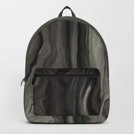 Marblesque Black and Gray - Abstract Art Marble Series Backpack