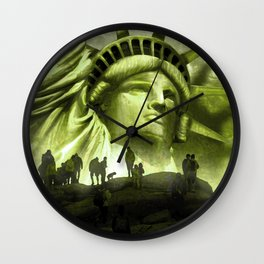 Tourist Destination - Statue of Liberty Style Wall Clock
