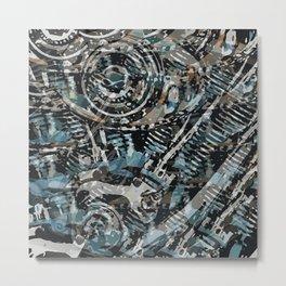 Abstract V-Twin Metal Print