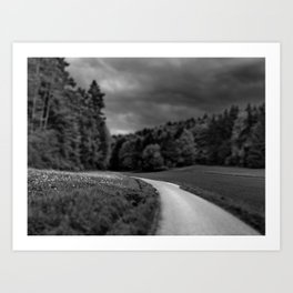 Only a Road Art Print