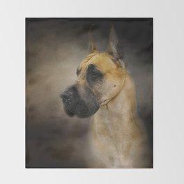 Dashing Great Dane Throw Blanket