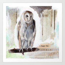 O Happy day - Owl Art Print