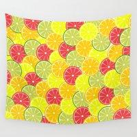 Summer fruits Wall Tapestry