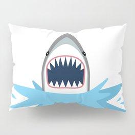 Cartoon Shark Splash Pillow Sham