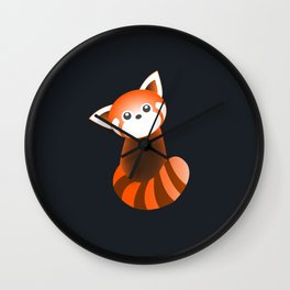 Curious Red Panda Wall Clock