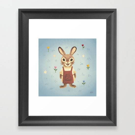Garden Rabbit Framed Art Print