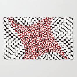 black white red 2 Rug