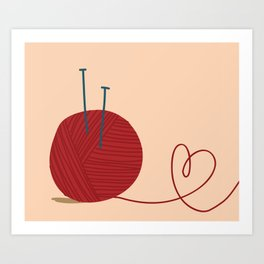 Knitted Love Art Print