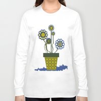 leah flores Long Sleeve T-shirts featuring Flores by Constant