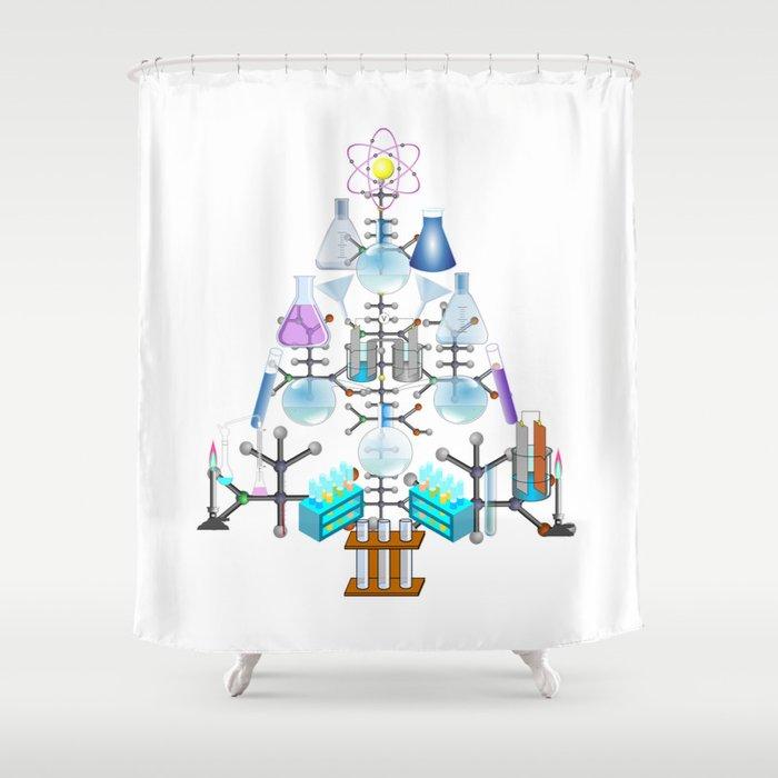 Oh Chemistry Chemist Tree Shower Curtain By Gx9designs