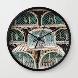 Readying for the lobster season Wall Clock