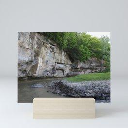 View of the ledge Mini Art Print