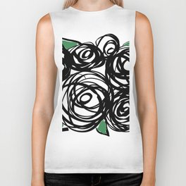 Black Roses Biker Tank