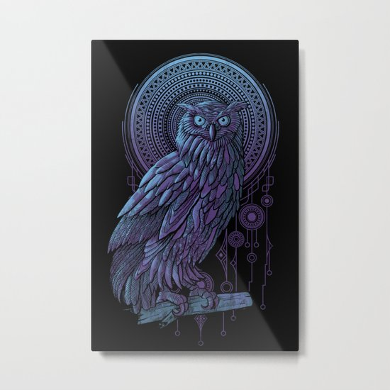 Owl Nouveau II Metal Print