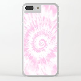 Lighter Pink Tie Dye Clear iPhone Case