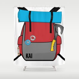 Kai the Hitchhiker Shower Curtain