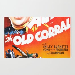 Vintage poster - The Old Corral Rug