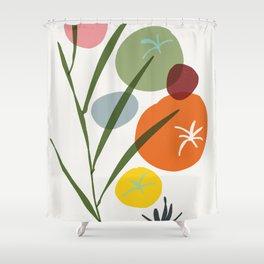 colorful zen garden Shower Curtain