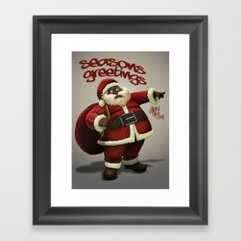 Chocolate Santa Framed Art Print