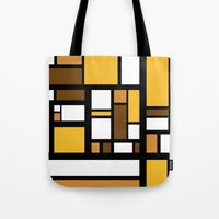 70s Tote Bags featuring 70s Deco by Lily Mitchell
