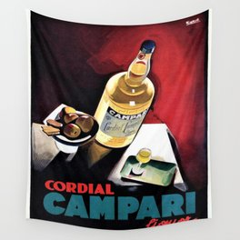 Vintage Campari Italian Cordial Advertisement Wall Art Wall Tapestry