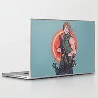 daryl dixon Laptop & iPad Skins featuring TWD Daryl Dixon by lorna-ka