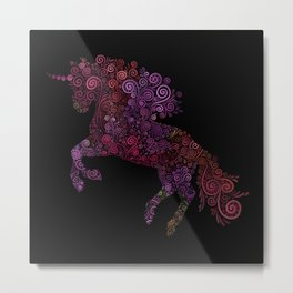 Unicornis Filix Metal Print