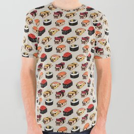 Sushi Pug All Over Graphic Tee