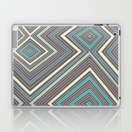 Blue, Yellow, Green and Gray Lines - Illusion Laptop & iPad Skin