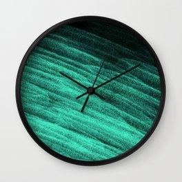 Aqua Step Waves Wall Clock
