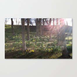 Love Nature Canvas Print