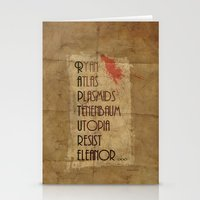 bioshock Stationery Cards featuring Bioshock - This is Rapture by Art of Peach