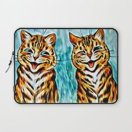 "Louis Wain's Cats ""Winking Cats"" Laptop Sleeve"