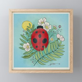 Ladybug season Framed Mini Art Print