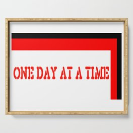 One Day at a Time (red brick) Serving Tray