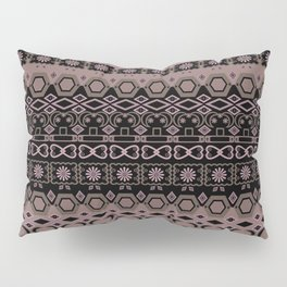 Colorful pink brown ethnic ornament. Pillow Sham