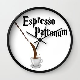 Espresso Patronum design Wall Clock