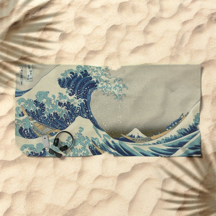 The Great Wave off Kanagawa Beach Towel