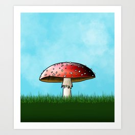 The Cheerful Toadstool Art Print