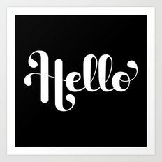 Hello Lettering Art Print