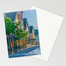 Bar Harbor Maine Main Street Dawn Print Stationery Cards