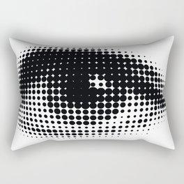 human eye from black dots Rectangular Pillow