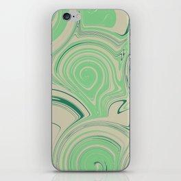 Spiraling Green iPhone Skin