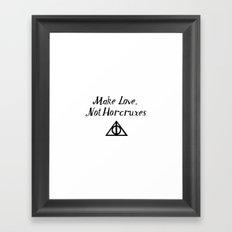 Make Love, Not Horcruxes Framed Art Print