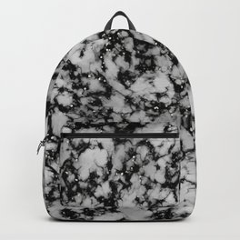 Black glitter marble texture Backpack