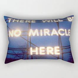 Neon - There Will Be No Miracles Here Rectangular Pillow